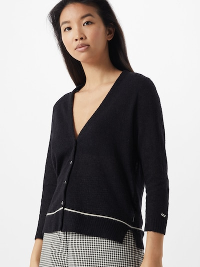 Calvin Klein Strickjacke in schwarz / weiß, Modelansicht
