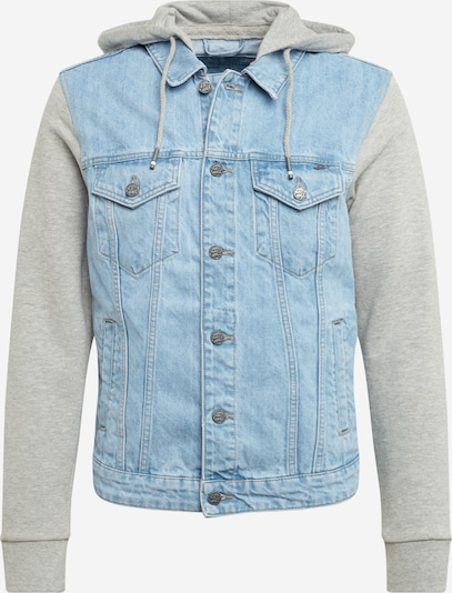 Only & Sons Jacke 'ONSCOIN HOOD TRUCKER BLUE PK 5727' in blue denim / grau, Produktansicht