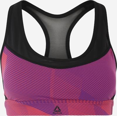 REEBOK Sport-BH in lila / schwarz, Produktansicht