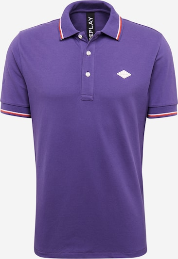 REPLAY Poloshirt in lila, Produktansicht