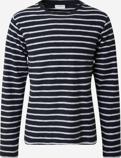 Lindbergh T-Shirt 'Striped Reversed' en bleu / blanc, Vue avec produit