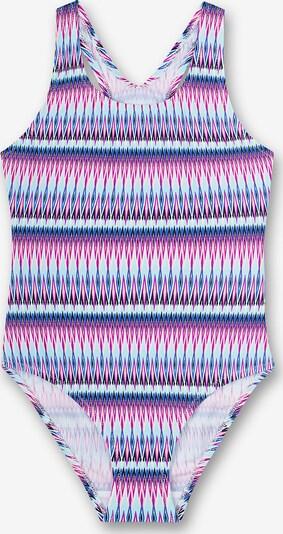 SANETTA Badeanzug in blau / hellblau / lila / pink, Produktansicht