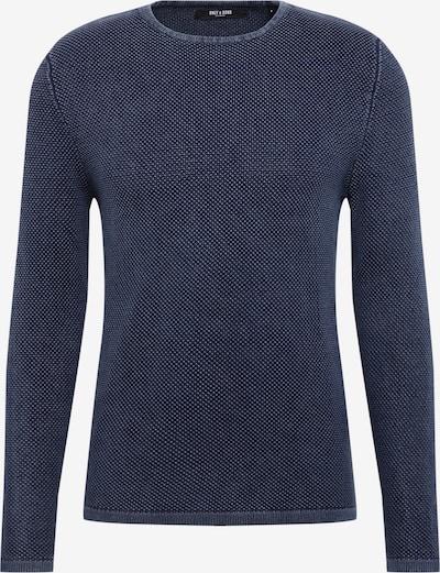 Only & Sons Trui 'HUGH LINE' in de kleur Donkerblauw, Productweergave