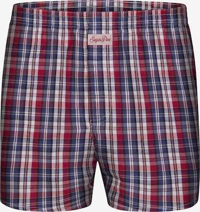 Sugar Pine Boxershorts 'Classic Check' in de kleur Blauw / Rood, Productweergave