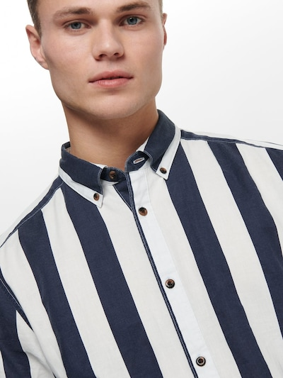 Only & Sons Hemd in blau: Frontalansicht