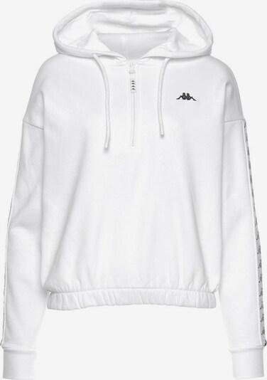 KAPPA Kapuzensweatshirt in schwarz / weiß, Produktansicht