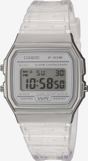 CASIO Casio Collection Chronograph »F-91WS-7EF« in grau / silber / transparent / weiß, Produktansicht