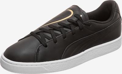 PUMA Sneaker 'Basket Crush Emboss' in gold / schwarz / weiß, Produktansicht