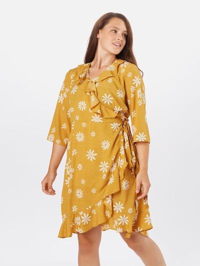Vero Moda Curve Kleid 'Lya' in gelb / weiß, Modelansicht