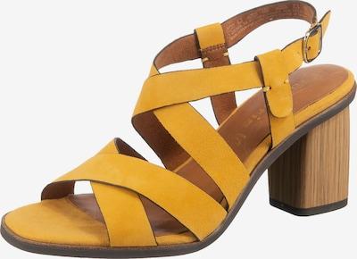 TAMARIS Riemchensandalette in gelb, Produktansicht