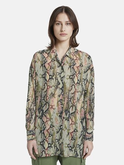 TOM TAILOR DENIM Bluse in grün, Modelansicht