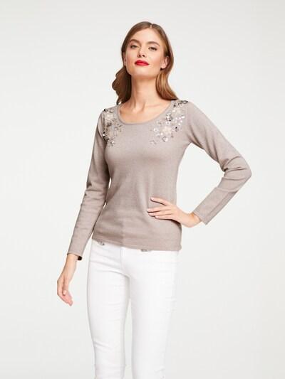 heine Pullover in grau, Modelansicht