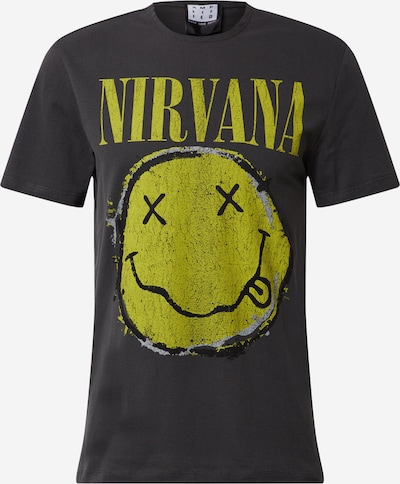 AMPLIFIED T-Shirt 'NIRVANA WORN OUT SMILEY ' in dunkelgrau, Produktansicht