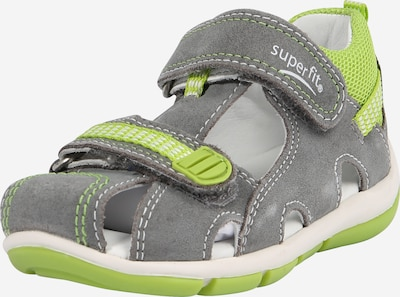 SUPERFIT Sandale in dunkelgrau / neongrün, Produktansicht