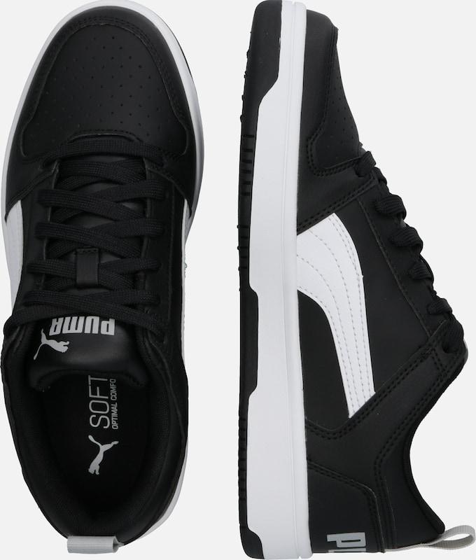 PUMA Sneaker 'Rebound Layup Lo SL Jr' in schwarz weiß