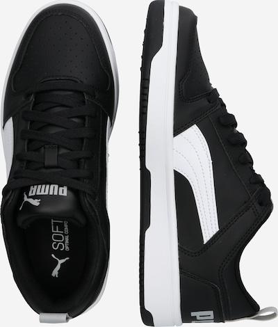 PUMA Sneaker 'Rebound Layup Lo SL Jr' in schwarz / weiß: Seitenansicht