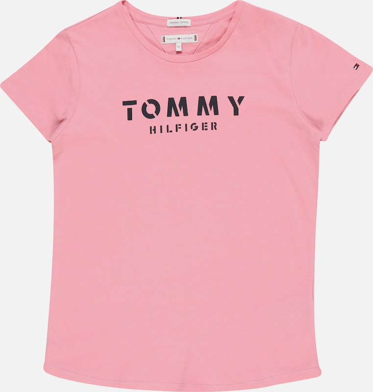 TOMMY HILFIGER T-Shirt 'ESSENTIAL TOMMY TEE S/S' in pink, Produktansicht