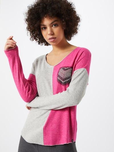 Key Largo Shirt 'WLS CANDLE' in grau / pink / schwarz: Frontalansicht