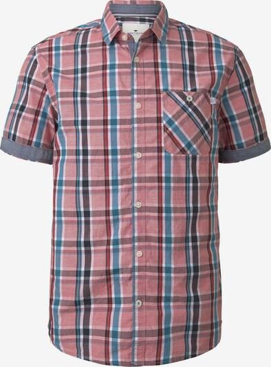 TOM TAILOR Hemd in hellblau / hellrot, Produktansicht