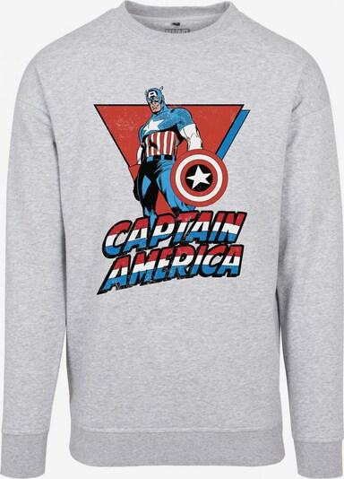 Mister Tee Sweatshirt 'Captain America' in blau / grau / rot / weiß, Produktansicht