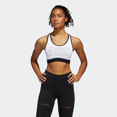 ADIDAS PERFORMANCE Sport-BH in schwarz / weiß: Frontalansicht