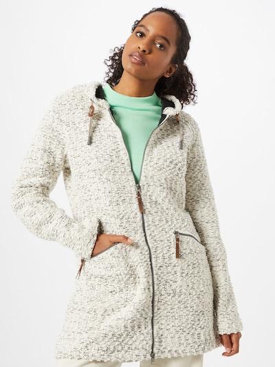 G.I.G.A. DX by killtec Manteau en tricot 'Roshana' en noir / blanc cassé, Vue avec modèle