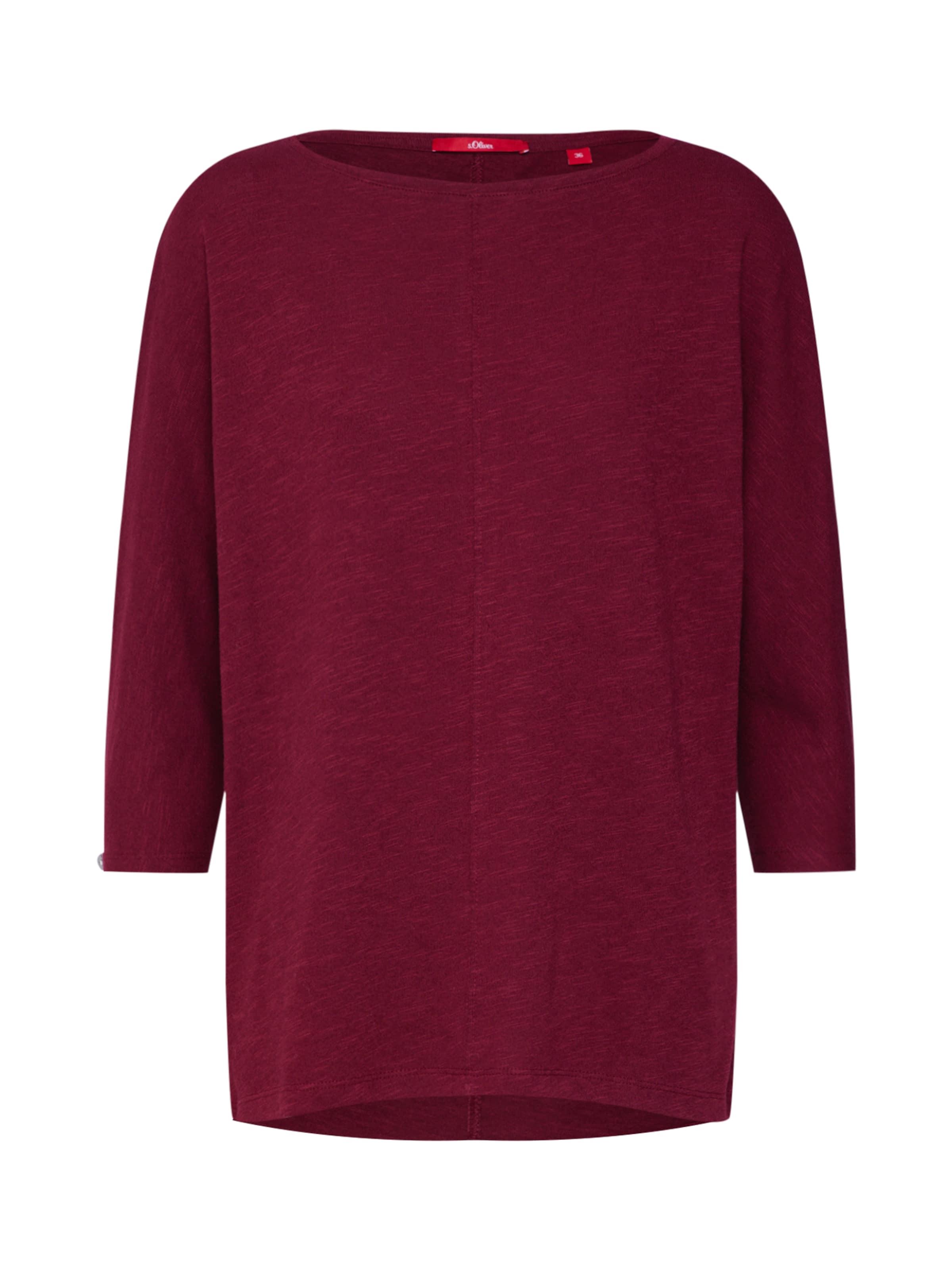 oliver S Bordeaux Red T shirt Label En 3Lj45cARq