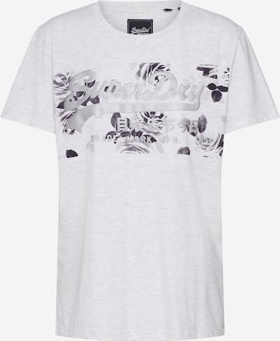 Superdry Shirt 'ROSE PANEL' in grau: Frontalansicht