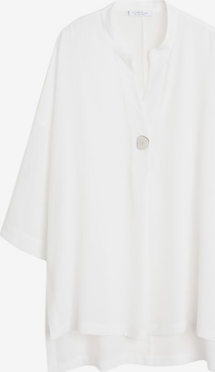 VIOLETA by Mango Tunique 'Silky' en blanc, Vue avec produit