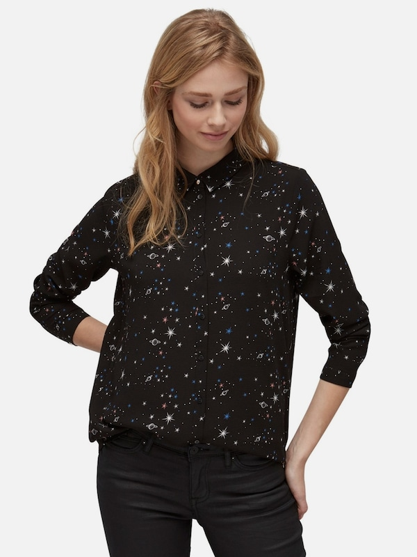 TOM TAILOR DENIM Bluse mit Galaxie-Print