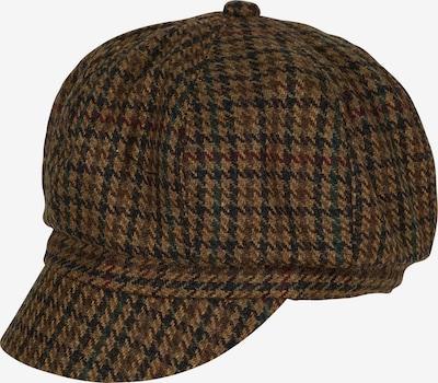 LOEVENICH Bakerboy-Mütze in braun / smaragd / blutrot / schwarz, Produktansicht