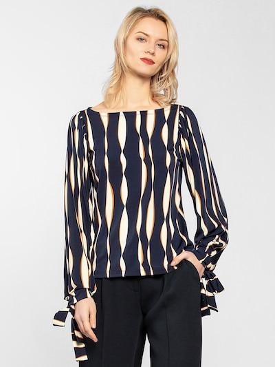 APART Bluse in beige / nachtblau, Modelansicht