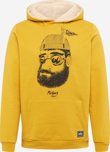 Picture Organic Clothing Sportsweatshirt 'PINECLIFF ' in de kleur Geel / Safraan / Zwart, Productweergave