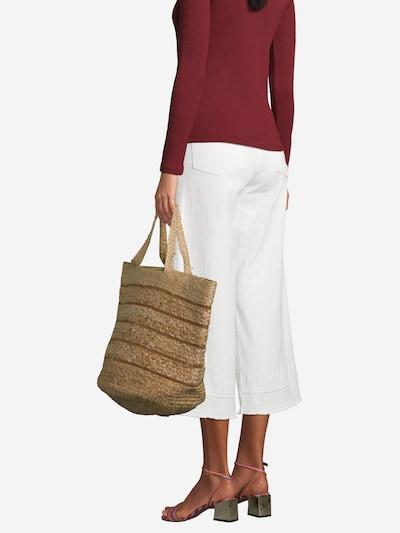 Samsoe Samsoe Strandtas in de kleur Beige / Bruin, Modelweergave