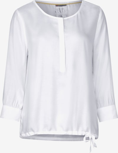 STREET ONE Bluse mit Knotendetail in weiß, Produktansicht