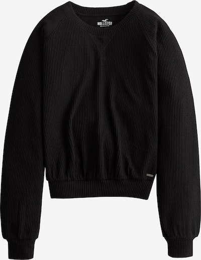 HOLLISTER Pullover  'LS EASY WAFFLE OPEN BACK 4CC' in schwarz: Frontalansicht