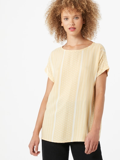 Soyaconcept Bluse 'Italy' in gelb / weiß, Modelansicht