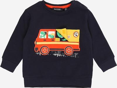 BLUE SEVEN Sweatshirt in beige / nachtblau / gelb / grasgrün / orangerot / weiß, Produktansicht