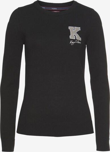 KangaROOS Rundhalspullover in grau / greige / schwarz, Produktansicht