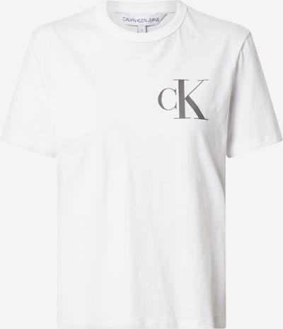 fehér Calvin Klein Jeans Póló 'BACK INSTITUTIONAL LOGO SLIM TEE', Termék nézet