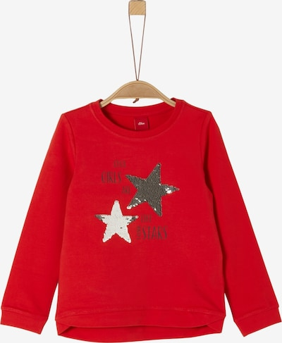 s.Oliver Junior Sweatshirt in gold / rot / silber, Produktansicht