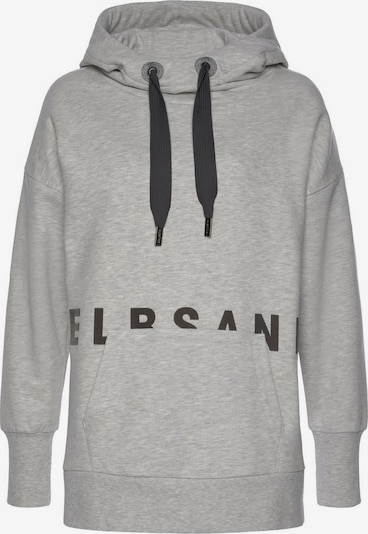 Elbsand Sweatshirt in graumeliert / schwarz, Produktansicht