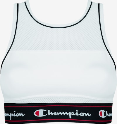 Champion Authentic Athletic Apparel Tank Fashion Crop Top in rot / schwarz / weiß, Produktansicht