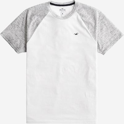 HOLLISTER T-Shirt in graumeliert / weiß, Produktansicht