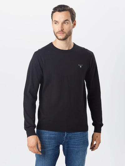 Megztinis iš GANT , spalva - juoda: Vaizdas iš priekio