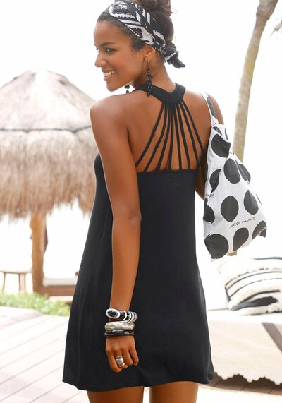 BUFFALO Vêtement de plage en noir, Vue avec produit