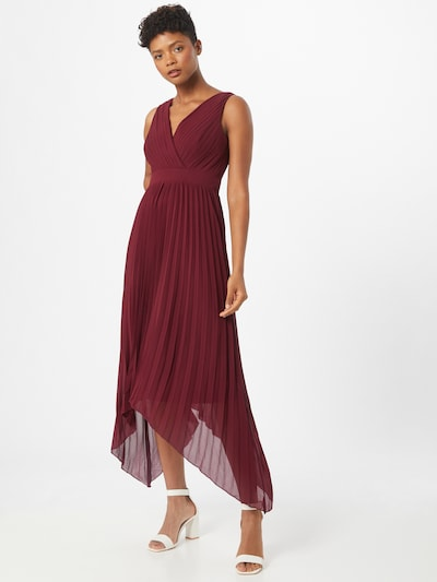 TFNC Kleid 'TATUM HI-LO' in burgunder, Modelansicht