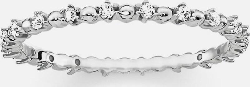 Thomas Sabo Silberring 'Dots mit weissen Steinen, TR2153-051-14'