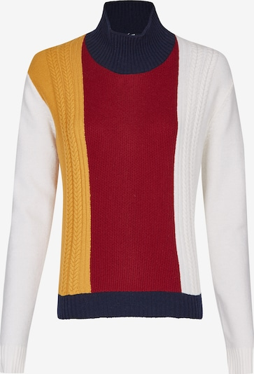 DANIEL HECHTER Sweater in Night blue / Yellow / Ruby red / White, Item view