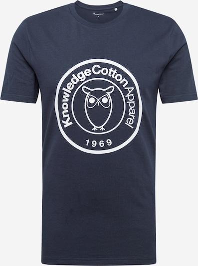 KnowledgeCotton Apparel Shirt 'ALDER' in dunkelblau / weiß, Produktansicht